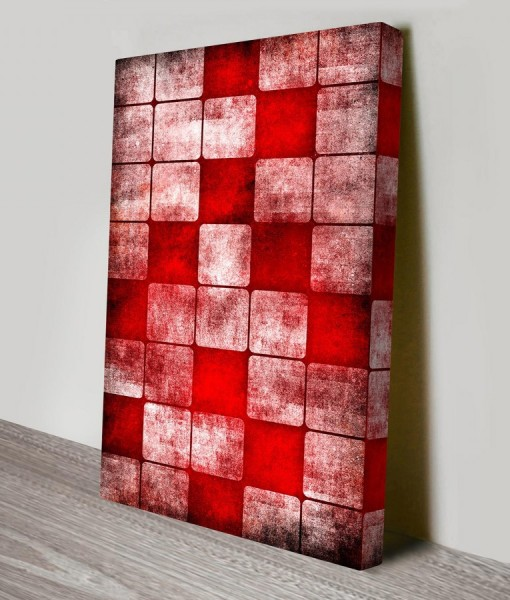 red-cubes-Abstract Art Canvas Print