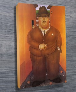 Botero-The-Road-Canvas-print