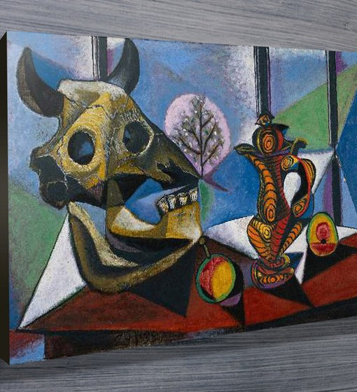 Bull-Skull-Fruit-Pitcher-by-Pablo-Picasso-Art-Prints
