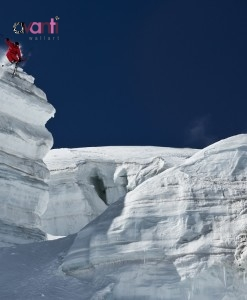 Guerlain Chicherit drops a well sized ice cliff