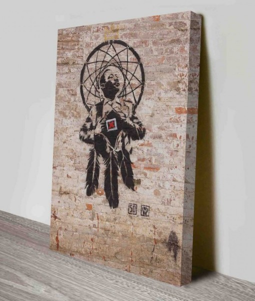 Banksy Mural-wall Canvas Print