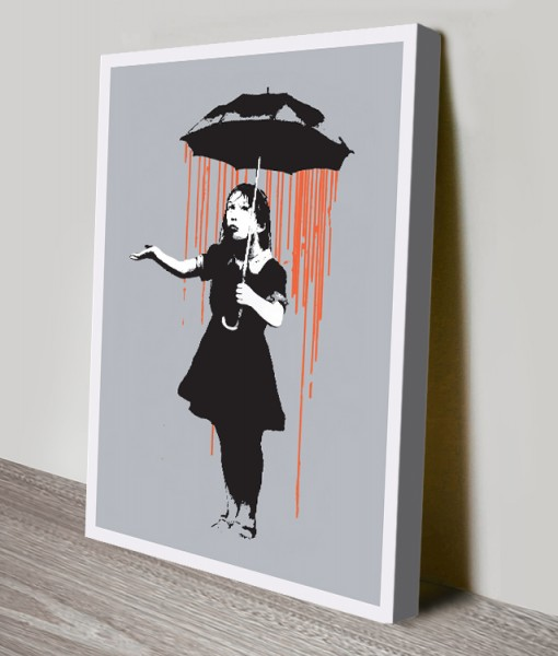 Banksy-Nola-Orange-Rain-canvas-print
