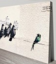 Banksy Art Birds Migrants Canvas Print